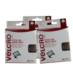 Velcro Stick On Coins Hook Only (19mm x 125)