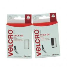 Velcro Stick On Squares (25mm x 24 sets)